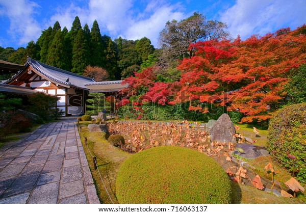 Koke-dera(Moss Temple)main hall is the most aptly named temples in Kyoto. It's a colorful Autumn paradise than can only be visited by application.the perfect zen and Sadness style only in there.
