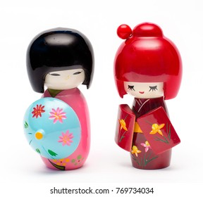 Kokeshi japanese wooden figurines