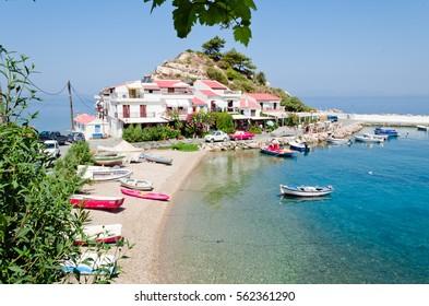 Kokkari is the most popular village of the aegean island of Samos