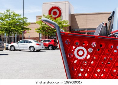 Kokomo - Circa May 2018: Target Retail Store Baskets. Target's online sales are booming but proving costly to profits III