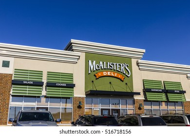 Kokomo - Circa November 2016: McAlister's Deli Fast Casual Restaurant.  McAlister's serves their Famous Sweet Tea II