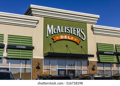 Kokomo - Circa November 2016: McAlister's Deli Fast Casual Restaurant.  McAlister's serves their Famous Sweet Tea I