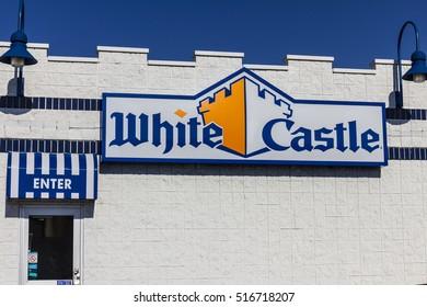 Kokomo - Circa November 2016: White Castle Hamburger Location. White Castle Serves 2 by 2 Inch Sliders III