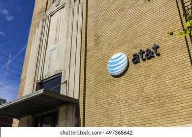 Kokomo - Circa October 2016: Downtown AT&T Central Office. AT&T now offers IPTV, VoIP, Cell Phones and DirecTV XIII