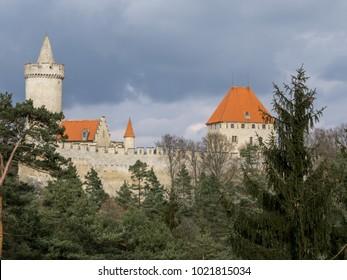 Kokorin historical castle in Czech Republic