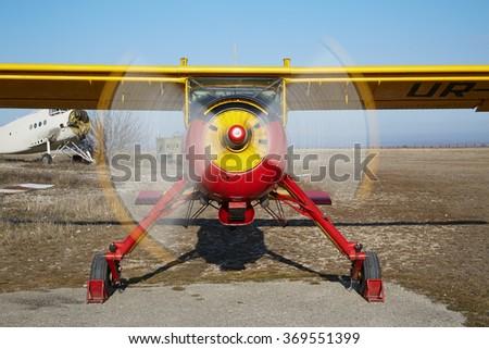 Koktebel UKRAINE JANUARY 05 2014 Aircraft Stock Photo (Edit Now