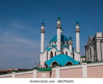 Kol Sharif or Qol Sharif mosque in Kazan Kremlin, Republic of Tatarstan, Russia.