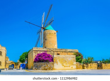 Ta' Kola Windmill at Xaghra, Gozo, Malta