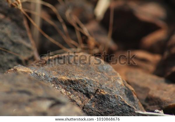 Kolar Gold Fields Red Stone Stock Photo (Edit Now) 1010868676