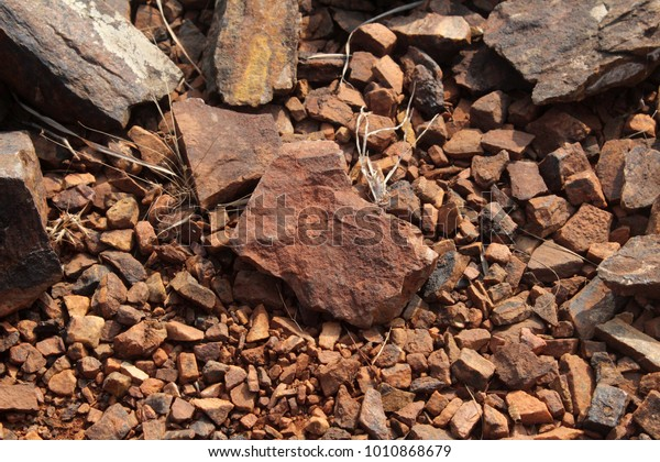 Kolar Gold Fields Red Stone Stock Photo (Edit Now) 1010868679