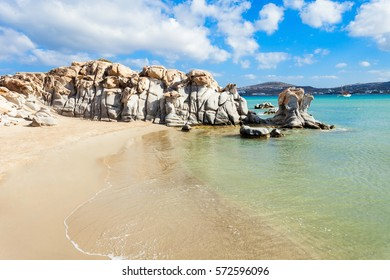 Kolimbithres beach with beauty stone rocks on the Paros island in Greece
