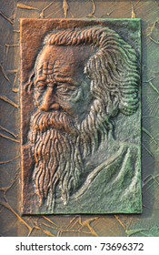 KOLKATA - FEBRUARY 23: An abstract art of Nobel laureate Rabindranath Tagore  on display during the Handicraft Fair in Kolkata-the biggest of its kind in Asia on February 23, 2011 in Kolkata, India.