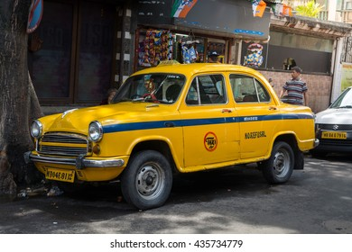KOLKATA, INDIA - 21 May 2016 : From December 2013, Kolkata has been gifted with a new fleet of no refusal taxis.