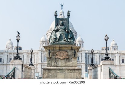 Kolkata, India - 25th April 2017:The Victoria Memorial is a large marble building in Calcutta, India, which was built between 1906 and 1921. It is dedicated to the memory of Queen Victoria