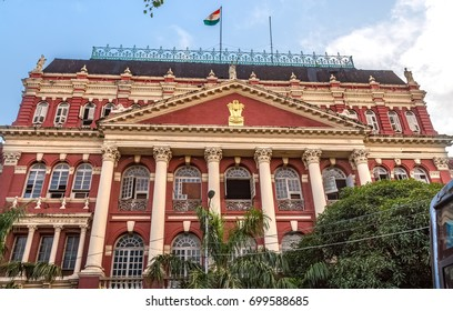 Kolkata, India, August 20, 2017: Classic colonial architecture - The Writers building at Dalhousie area Kolkata. Writers building houses the Chief ministers office and other  secretariat offices