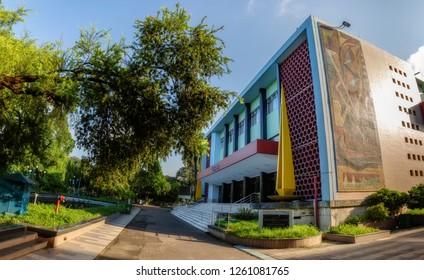 Kolkata, India, December 12,2018: Rabindra Sadan - A heritage building and city landmark at Kolkata associated with cultural shows named after Indian poet and Nobel laureate Rabindranath Tagore