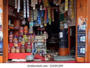 KOLKATA, INDIA - FEBRUARY 09: Small street shop which sell many product for daily life in Kolkata on February 09, 2016.