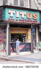 KOLKATA, INDIA - FEBRUARY 11: Titos bar and restaurant in Kolkata, India on February 11, 2016.