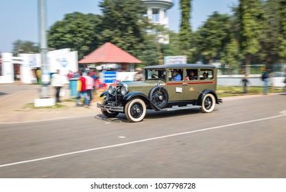 Kolkata, India, February 11,2018: Studebaker vintage car on the city streets of Kolkata for the Statesman vintage classic car rally 2018.