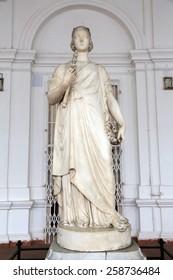 KOLKATA, INDIA - FEBRUARY 15: Statue of Queen Victoria, Indian Museum in Kolkata, on February 15, 2014
