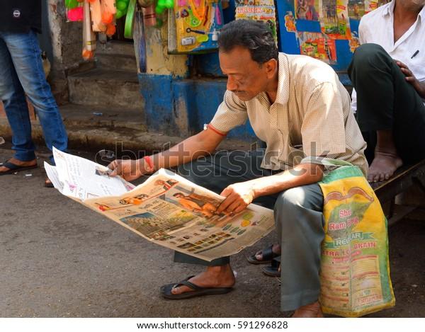 Kolkata India February 26 2017 Man Stock Photo (Edit Now