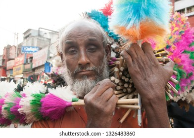 KOLKATA, INDIA,10 MARCH 2018 : Unidentified street vendor people selling various good on their shop at road of Kolkata, An Indian scene.