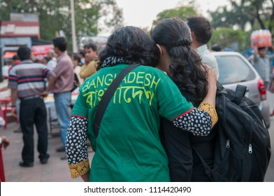 KOLKATA- MARCH  1: People hugging each other during a rally to condemn the killing of  Bangladeshi blogger Avijit Roy by radical Islamist groups on 1st March in Kolkata, India.