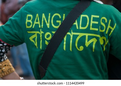 "KOLKATA- MARCH  1:People wearing ""Bangladesh"" written tshirt gathered on the streets to condemn the killing of  Bangladeshi blogger Avijit Roy by radical Islamist groups on 1st March in Kolkata, India"
