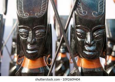 KOLKATA- NOVEMBER 26:Brass sculptures on display  during the Handicraft Fair on 26th November, 2014 in Kolkata, India