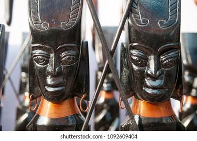 KOLKATA- NOVEMBER 26:Brass sculptures on display  during the Handicraft Fair on 26th November, 2014 in Kolkata, India