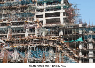 KOLKATA- SEPTEMBER 26: Workers working in a construction project in India- By 2020 the Indian real estate market is expected to touch US$ 180 billion on 26th September, 2014 in Kolkata, India.