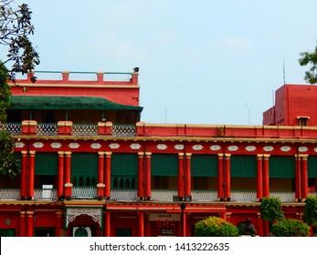 Kolkata , West Bengal / India -05-13-2019: Jorasanko Thakur Bari Kolkata. Rabindranath Tagore's ancestral home which was built in 1784. Now it is  Rabindra Bharati University .
