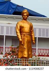 kolkata , West Bengal / India - 06-23-2018 :  Statue of Swami vivekananda . It is located at 105 Vivekananda Road, Kolkata, India. In this house, Swami Vivekananda was born on 12 January 1863.
