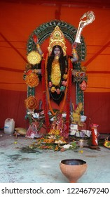 kolkata, West bengal, india: 7th Nov 2018- Goddess Kali is worshipped by hindus and buddhists. she is addressed Ma Kali or Mother Kali by her devotees worldwide. Diwali is celebrated Kali Puja Day.
