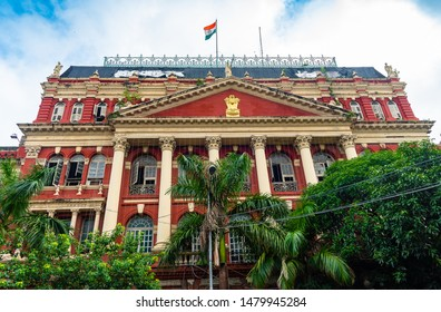Kolkata, West Bengal/ India - August 13,2019. Classic colonial architecture - The Writers building at Dalhousie area Kolkata.