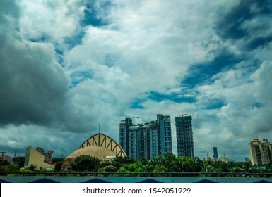 Kolkata, West Bengal, India - October , 2019 : Science City in Kolkata, landscape of city