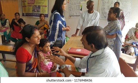 Kolkata, West Bengal /India - September 06 2018: A girl child came for treatment in the hospital for poor.