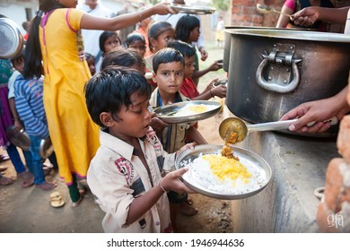 Kolkata, West Bengal - October 8 2019 : government School children having mid day meal in their school in india.