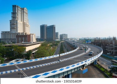 Kolkata, West Bengal,India- January 1st 2016 : Ma or Maa flyover, is a 4.5 kilometer long flyover in Kolkata.. From Alipore to Eastern Metropolitan Bypass of Kolkata. A large traffic is carried daily.
