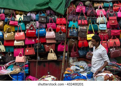 KOLKATA,INDIA - 21 May 2016 :Fakes, replicas or copies of branded goods like watches, perfumes, bags, electronic items and even cosmetics are a rage with the brand-conscious middle-class Kolkatans.