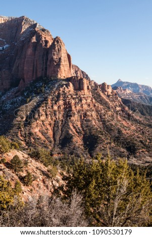 Kolob Canyon at sunset, Zion National Park, UT