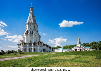 KOLOMENSKOYE, RUSSIA, MAY 22, 2019 - The Church of the Ascension built on the tsarist estate (Kolomenskoye) near Moscow in 1532 - Moscow, Russia