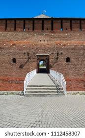 Kolomna Kremlin. Mikhailovsky Gate. Fragment of the wall.