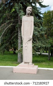 Kolomna, Russia - August 9, 2017: Monument To Weeping Mother At Memorial Park Summer In Kolomna, Moscow Region.