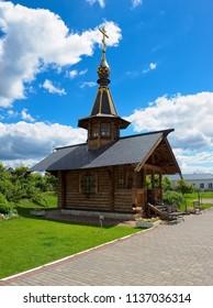 Kolomna, Russia - June 09, 2018: Chapel the Equal-to-the-Apostles of Vladimir and Anastasia Uzoreshitelnitsy of the Novo-Golutvin Monastery