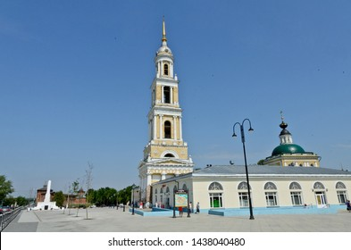 Kolomna, Russia - June 22, 2019: Bell Tower of the Church of St. John the Divine
