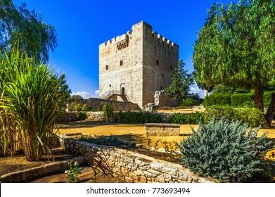 Kolossi medieval castle, famous landmark, Limassol, Cyprus