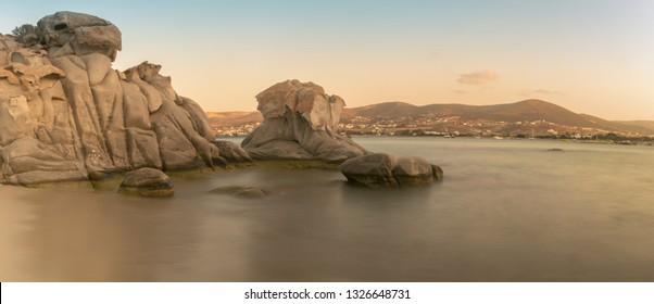 Kolymbithres at Paros island in Greece panorama.