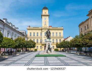 Komarno/Slovakia - 09/01/2017: General Klapka Square in Komarno City Centre, Slovakia