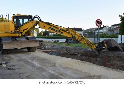 Komatsu Excavator Images, Stock Photos & Vectors | Shutterstock